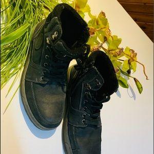 Noise black leather men's boots size 42
